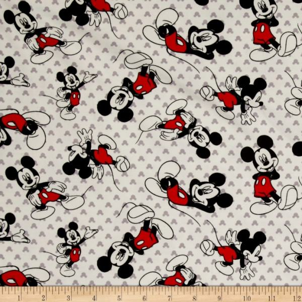 Disney Mickey Mouse Toss Jersey Knit White - Discount ...