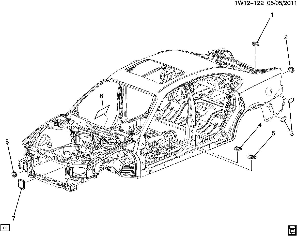 Gm Vehicles Rear Quarter Panel Body Plug Filler