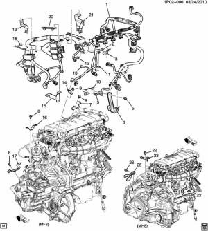 2011 Chevrolet Cruze 14L Turbo 6Spd Auto Engine Wiring