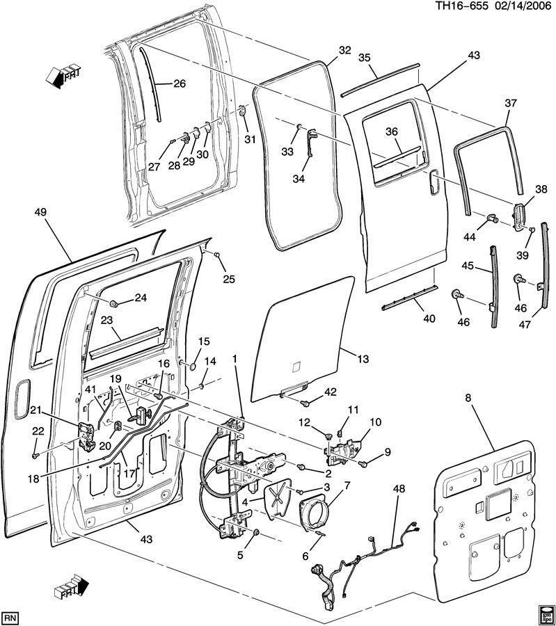 Diagram Gmc Door Parts Diagram