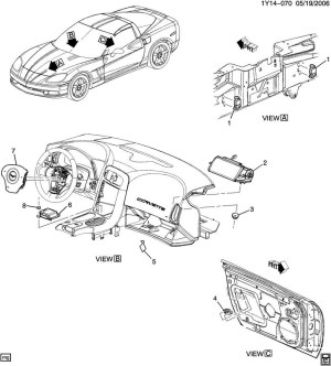 20092011 Corvette C6 Airbag Air Bag Module ECU 15883147