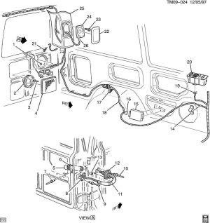19962005 Chevy Astro GMC Safari Rear Left Speaker Grille