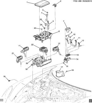 20142015 Chevy Corvette C7 Main Wiring Fuse Block New OEM