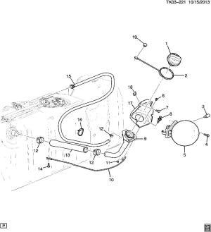 20142016 Silverado Sierra 1500 Fuel Filler Neck Gas Flex E85 New OEM 23396605 | Factory OEM Parts