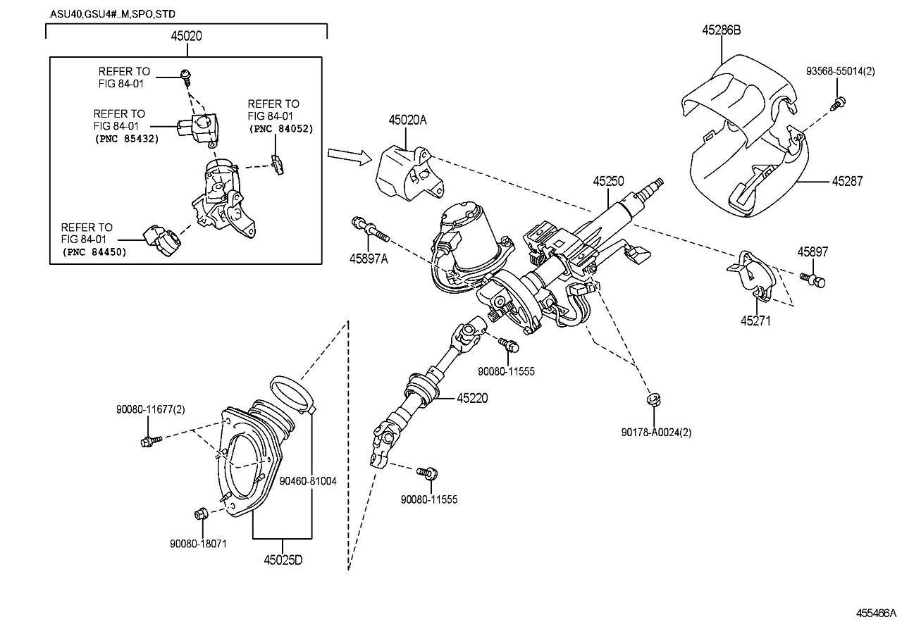 Toyota Highlander Limited Lower Steering Column Trim