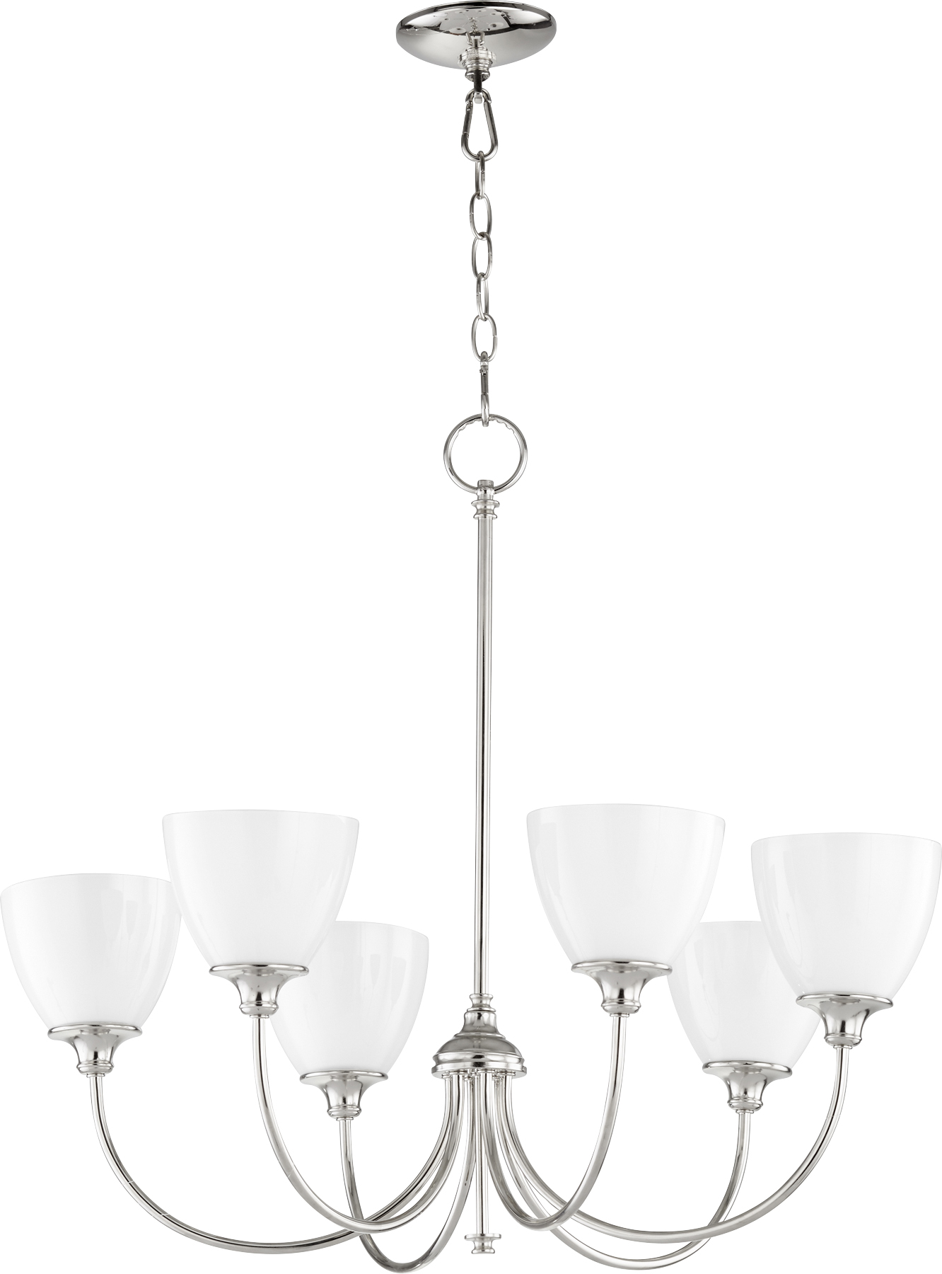Polished Nickel Celeste 6 Light 28 Wide Chandelier W