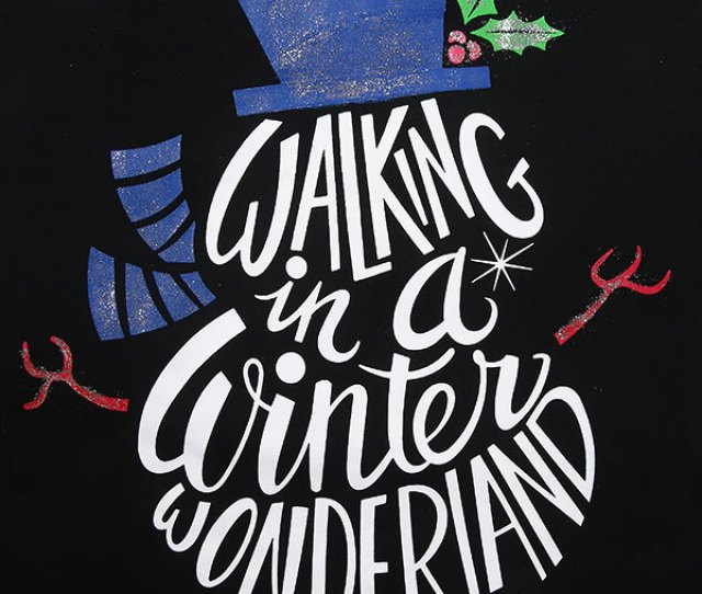 Walking In A Winter Wonderland Baseball T Shirt Zoom