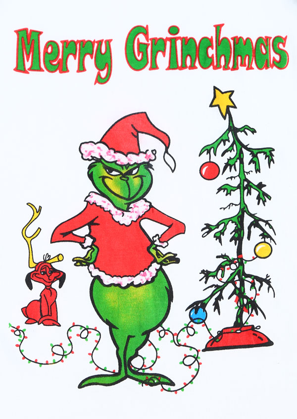 Christmas Merry Grinchmas Tree O Neck Baseball T Shirt