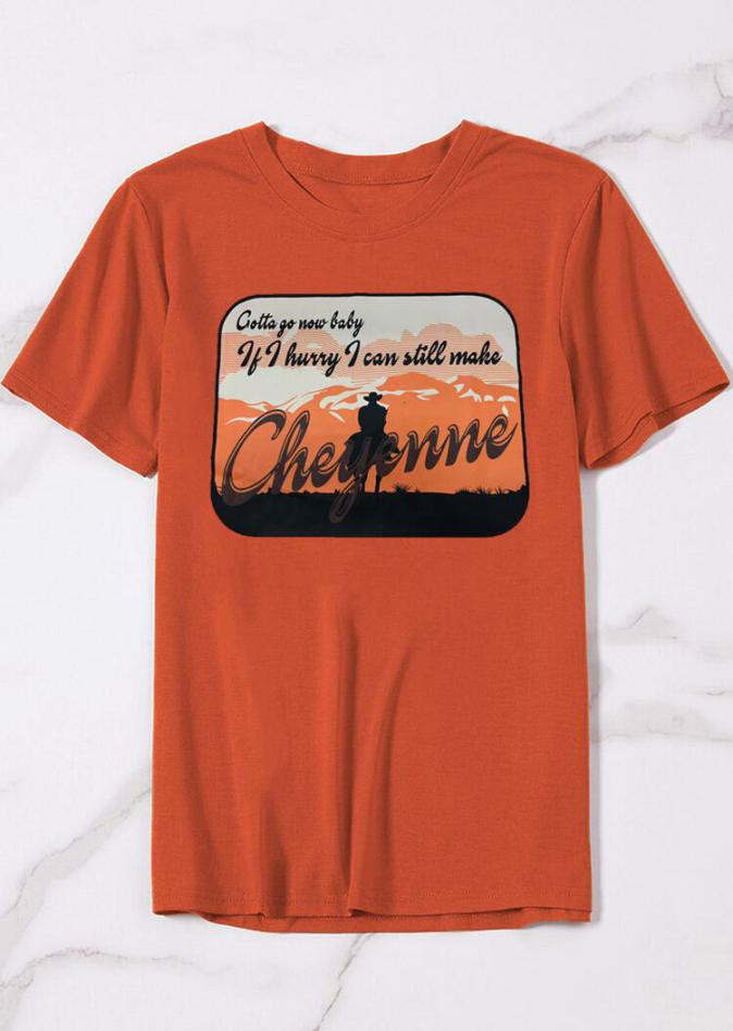 Tees T-shirts If I Hurry I Can Still Make Cheyenne T-Shirt Tee -  Brick Red in Brick Red. Size: S,M,L,XL