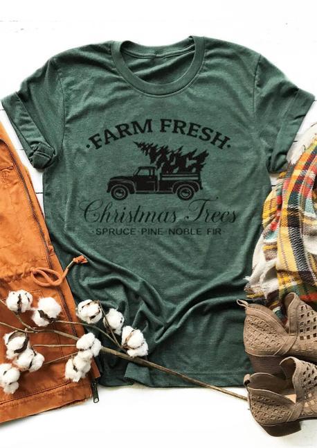 Farm Fresh Christmas Trees- Country Style Christmas Tee