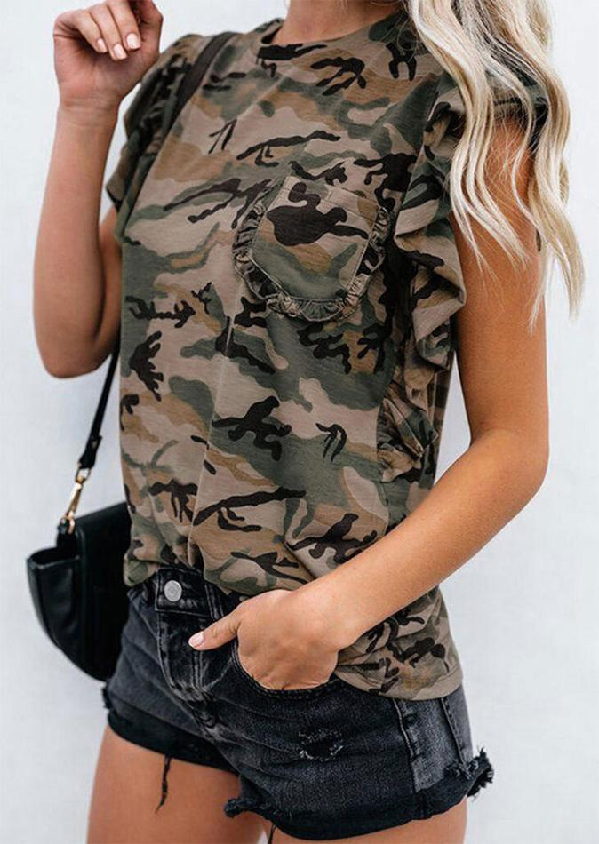 Blouses Camouflage Pocket Blouse in Camouflage. Size: S