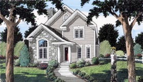 CLick to view this Narrow House Plan