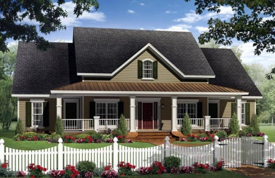 House Plan 59205 at FamilyHomePlans com Country Southern House Plan 59205 Elevation
