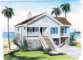 Coastal House Plan Number: 74006