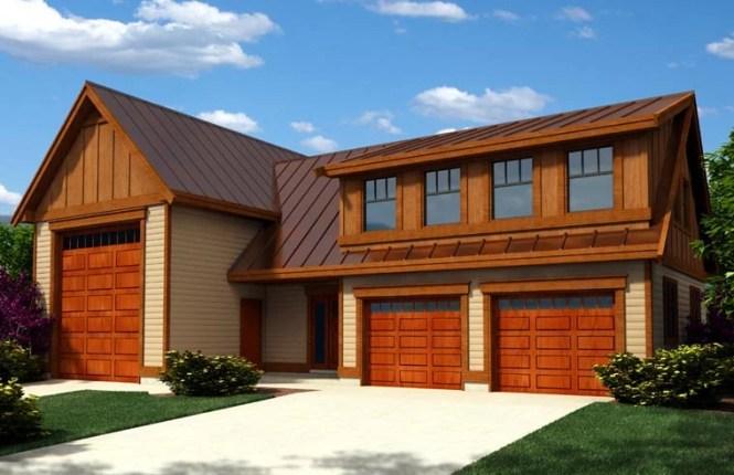 Craftsman Style 3 Car Garage Apartment Plan Number 76023 Rv Storage