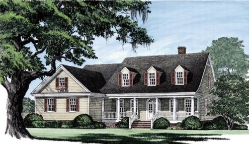 House Plan 86104 at FamilyHomePlans com Cape Cod Country Southern Traditional House Plan 86104 Elevation