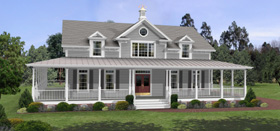 Southern country house plan