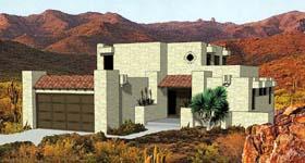 Pueblo style house plan # 94423