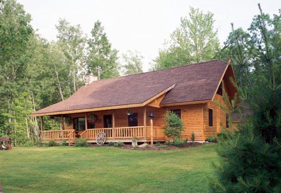 House Plan 95255 at FamilyHomePlans com Cabin Ranch House Plan 95255 Elevation