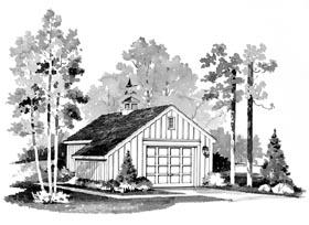 Popular 1 car garage plan