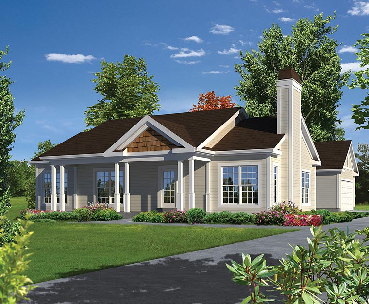 House Plan 95979 at FamilyHomePlans com Ranch Traditional House Plan 95979 Elevation