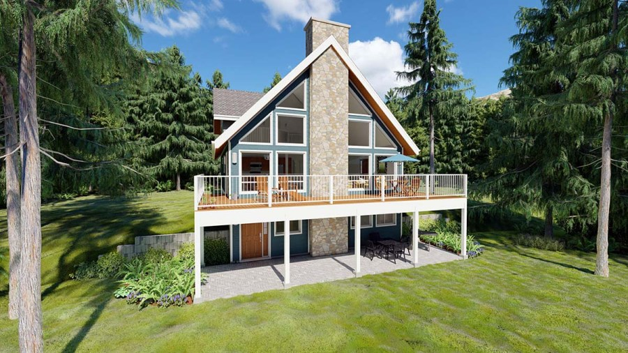 House Plan 99961 at FamilyHomePlans com A Frame House Plan 99961 Elevation