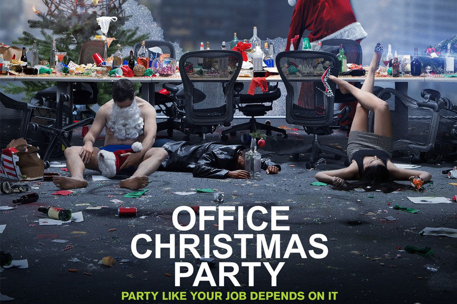 Image result for office christmas party movie poster