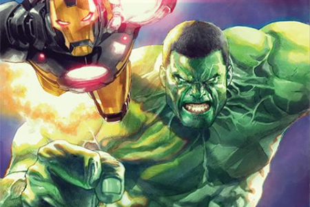 Indestructible Hulk #2 Cover Leinil Yu Mark Waid Iron Man Marvel NOW!