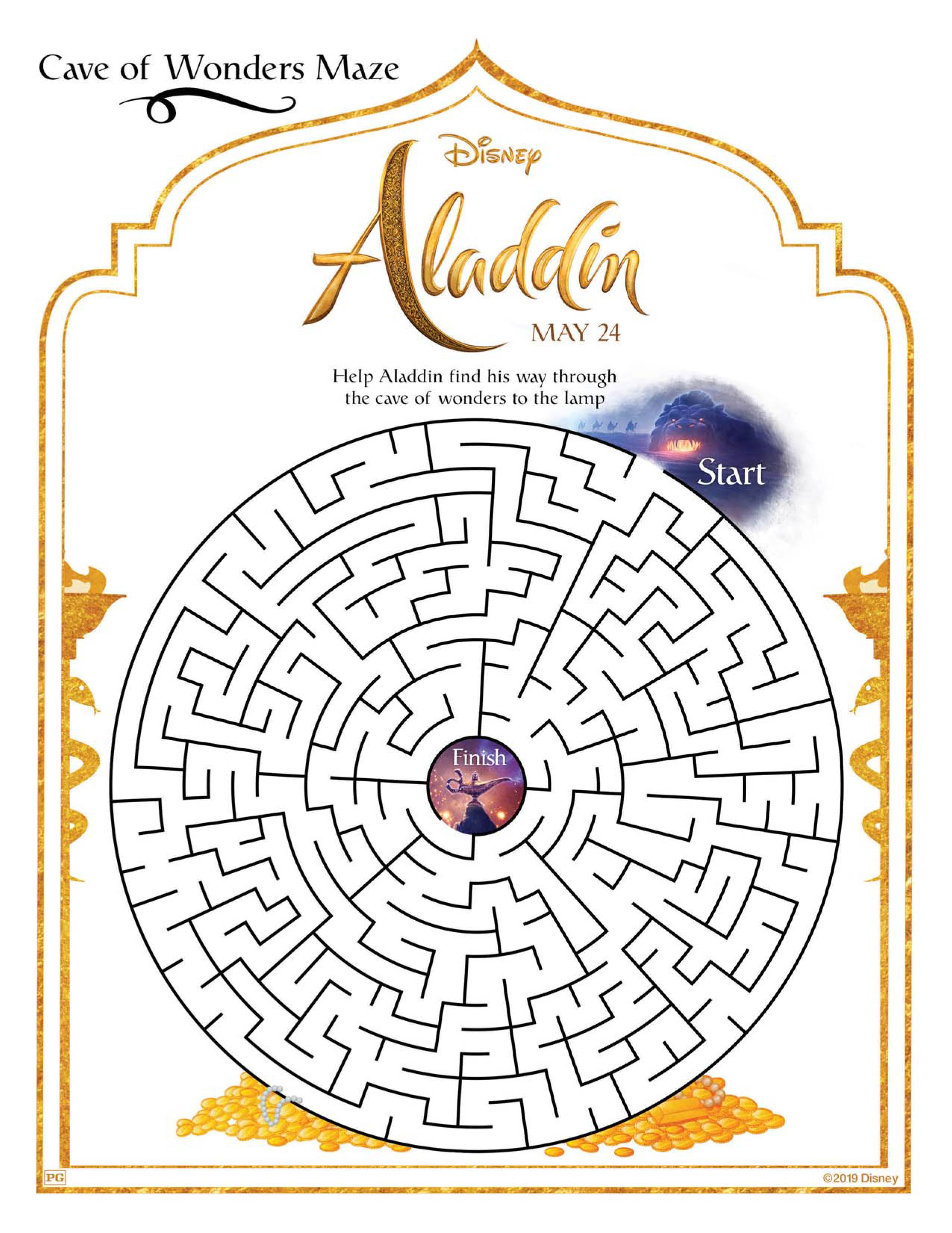 Aladdin Activity Packet Will Delight And Entrance