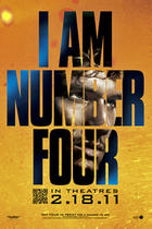 """Poster art for """"I Am Number Four."""""""