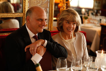 "Kurt Fuller as John and Mimi Kennedy as Helen in ""Midnight in Paris."""