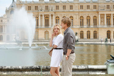 "Rachel McAdams as Inez and Owen Wilson as Gil in ""Midnight in Paris."""
