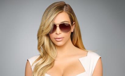 Paper Mache Tiger handles Kardashian Kollection eyewear