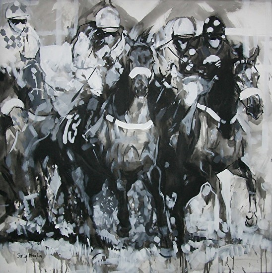 In the Pack by Sally Martin Acrylic ~ 32inch x 32inch