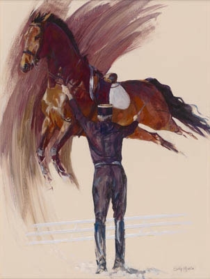 'Power in Hand II' by Sally Martin Oil ~ 38inch x 28inch