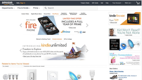 Amazon Is Experimenting With A New Homepage Design