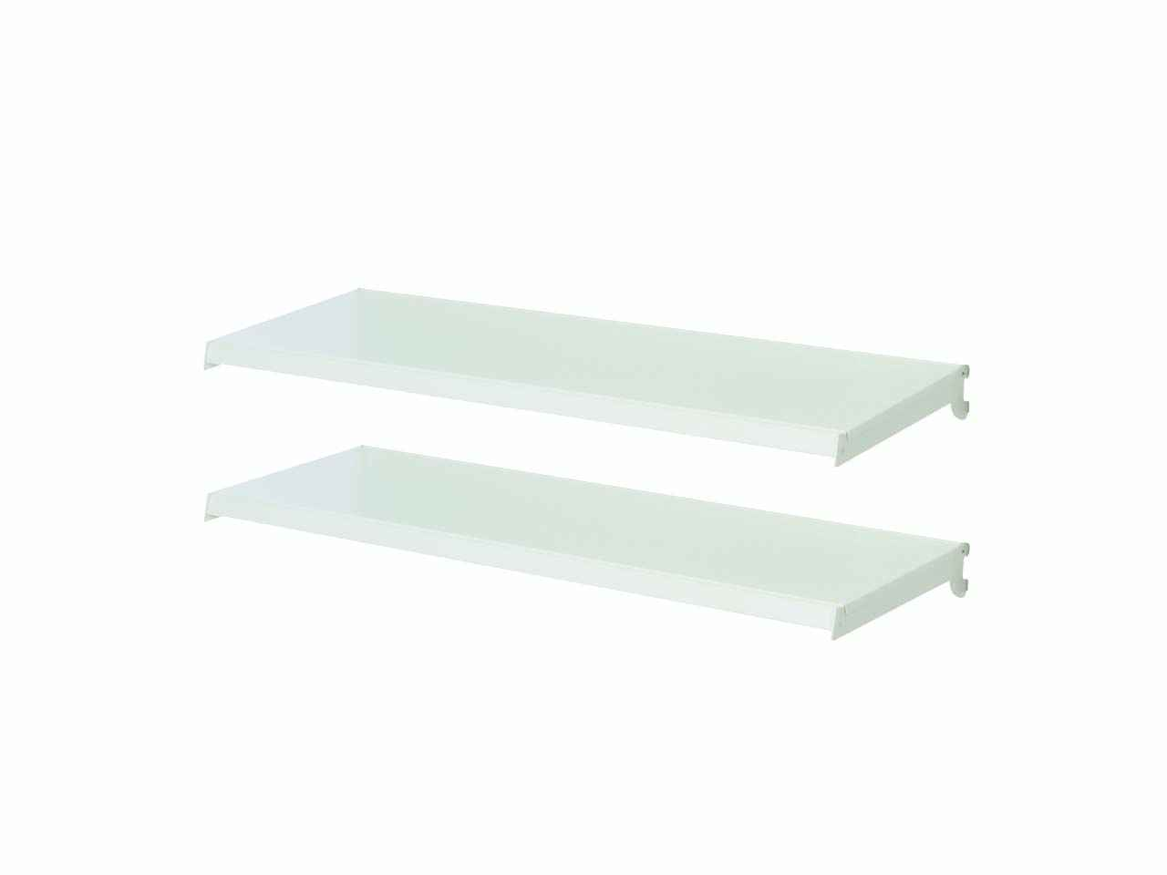 Silverline 788204 2 Metal Shelves 4 Brackets 370mm Slatwall Toolbars Gondola Systems