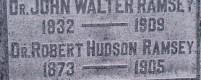 Headstone Inscription for Dr. Robert Hudson Ramsey