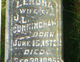 Grave marker inscription of Lenora Sullivan Cunningham