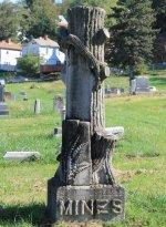 Grave marker of James Madison Mines