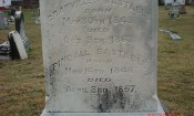 Bastable family marker with inscription of Pvt. Granville Bastable