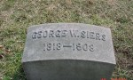 Grave marker of George W. Siers
