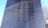 Headstone inscription of Judge Gideon Draper Camden