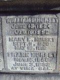 Engraving on William L. Hursey's grave marker