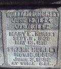 Hursey Family marker with Mary Elizabeth Davis Hursey
