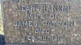 Headstone of Jean Templeton Rankin Patton