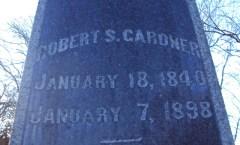 Head stone inscription of Robert S. Gardner