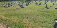 Unmarked Criss Family grave plot at the Clarksburg I. O. O. F. cemetery. Morley Criss is buried here