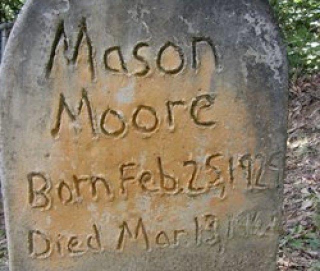Mason Moore Tombstone