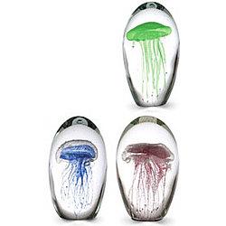 Jellyfish Glass Paperweight